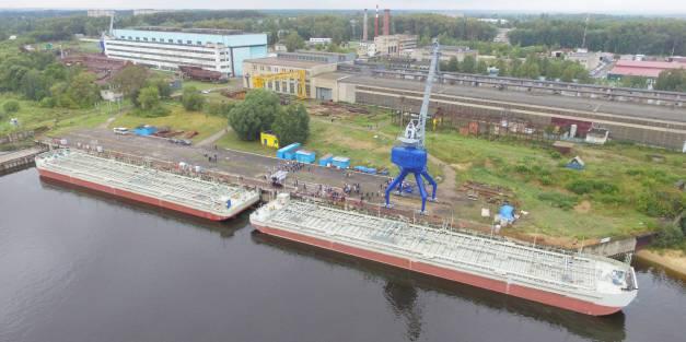 В г.Рыбинск завершена модернизация двух новых барж ОАО «ЛОРП»